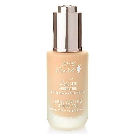 100 Pure 2nd Skin Foundation Skin Foundation Pure Products Minerals Makeup