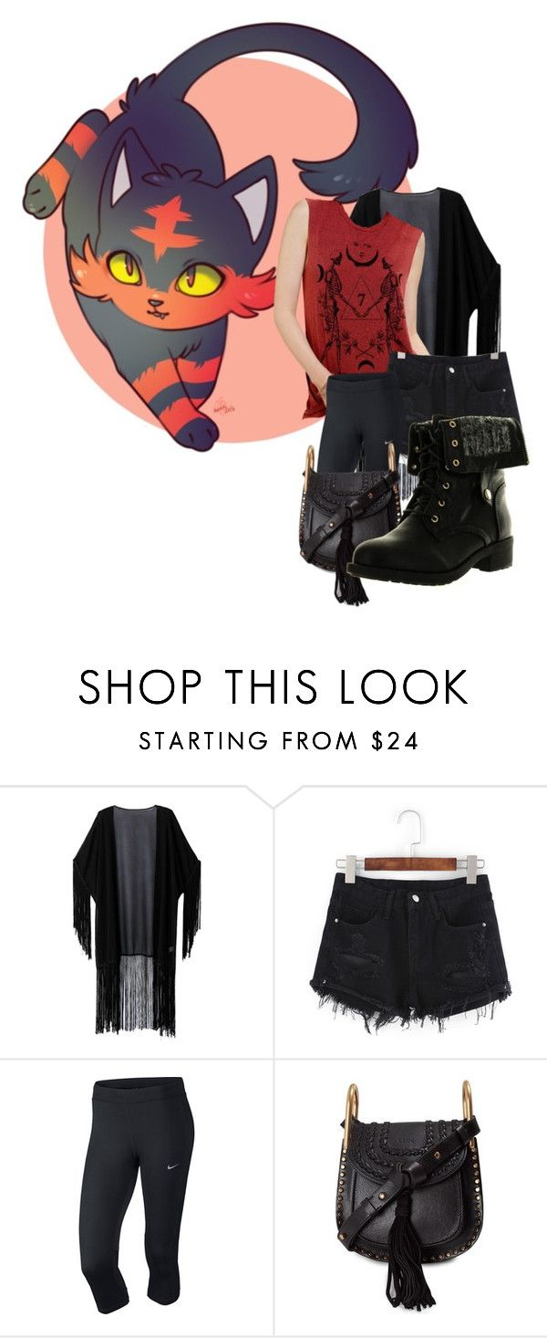 """Litten"" by skullx24 ❤ liked on Polyvore featuring WithChic, NIKE, Chloé and Refresh"