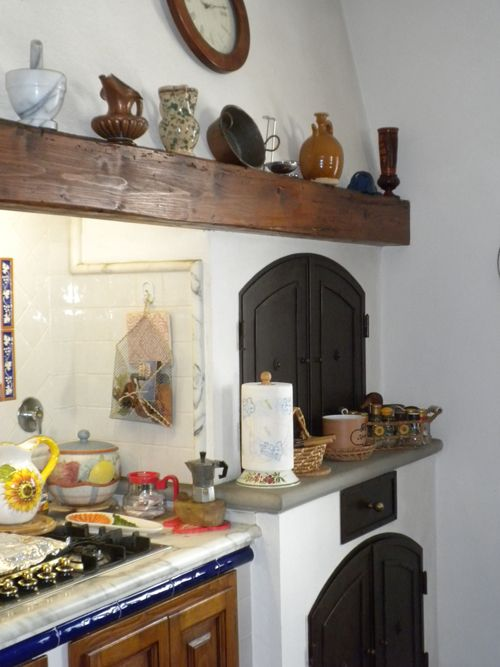 Particolare cucina: forno a legna e legnaia | Kitchen | Pinterest