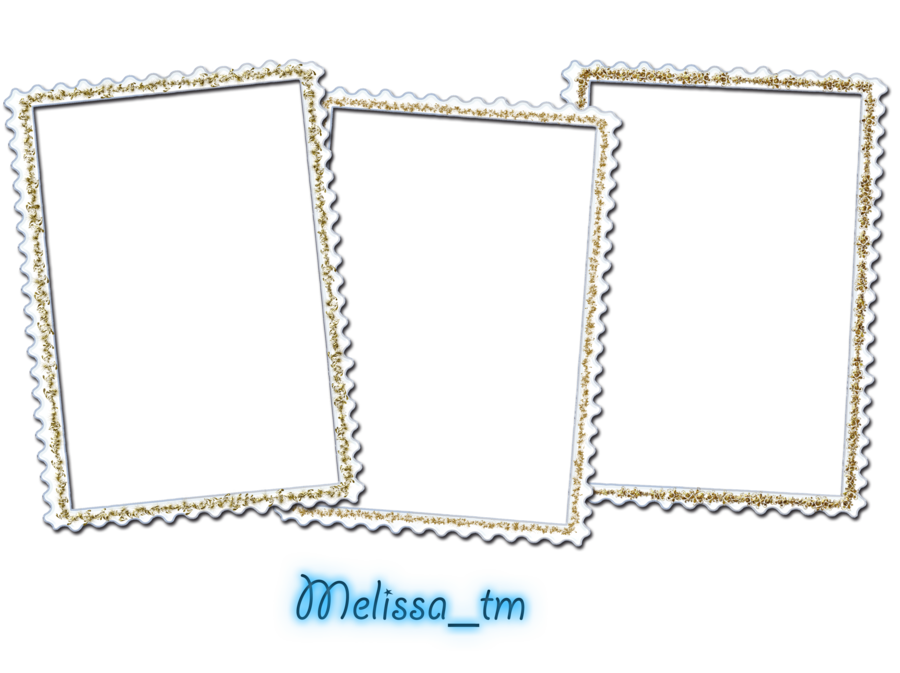 three white frames png by melissa tm