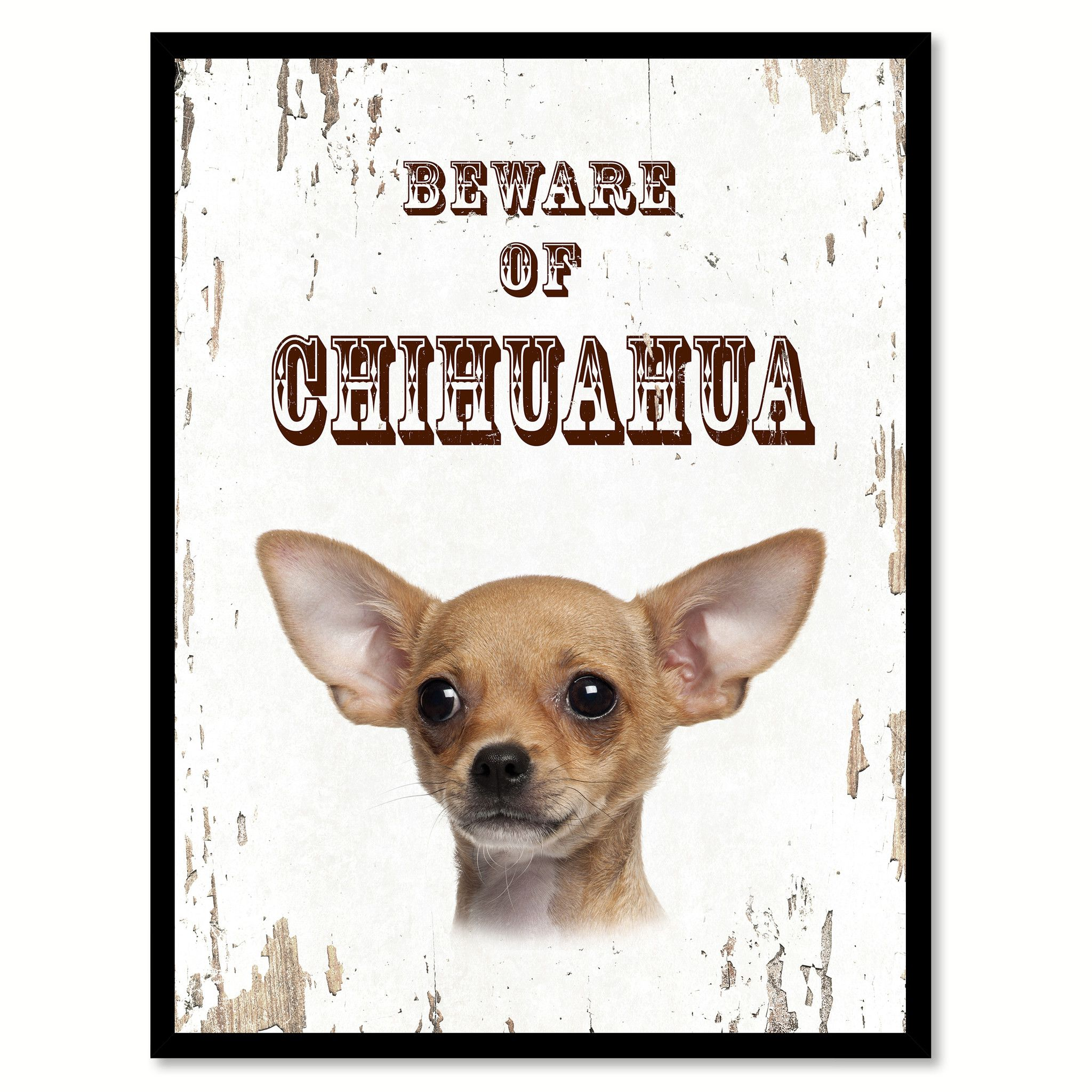 Chihuahua Dog Sign Gifts Canvas