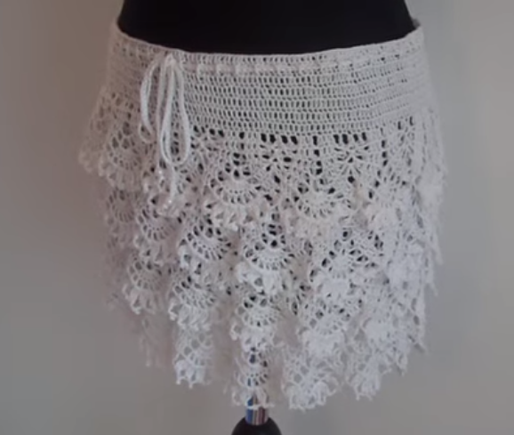 How To Crochet Ruffle Skirt Free Pattern Tutorial Crochet And Knit