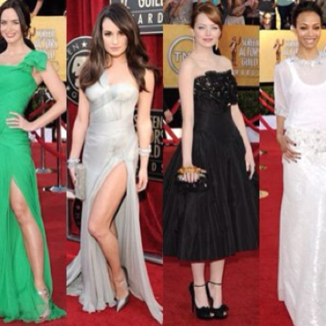 Screen Actors Guild Awards- these actresses showed how to cope with the right dress, body style, and accessorizing <3
