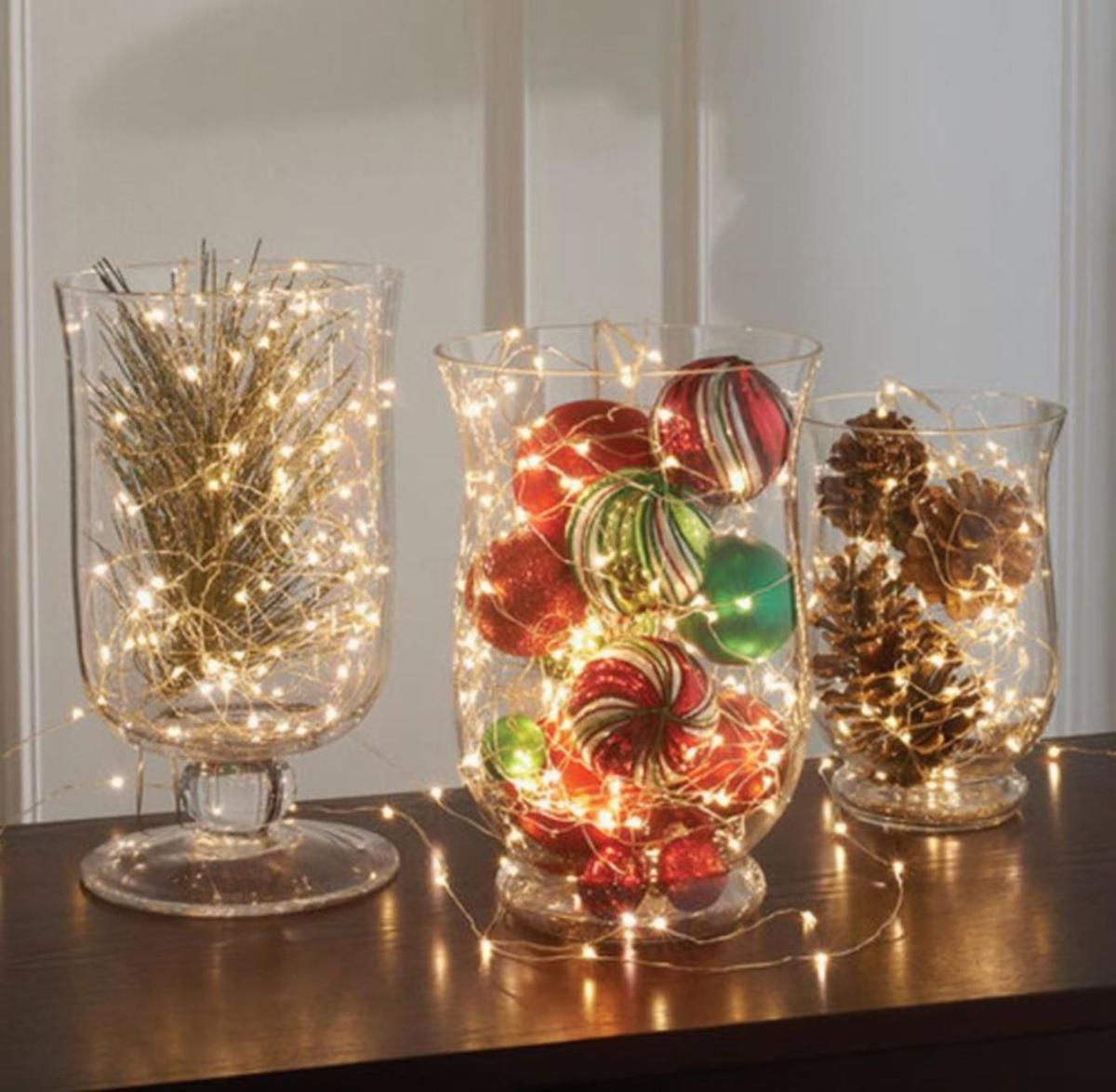 Best Creative Diy Christmas Table Centerpieces Ideas 26 Decorating With Christmas Lights Christmas Centerpieces Christmas Centerpieces Diy