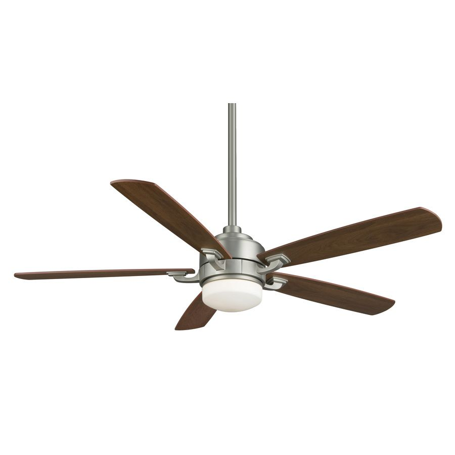 large residential ceiling fans fanimation benito 52in satin nickel downrod mount indoor residential ceiling fan with light kit