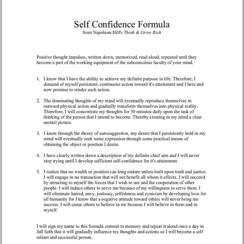 worksheet Think And Grow Rich Worksheet youtube confidence and personal development development