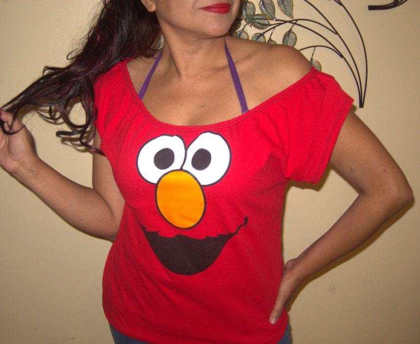 66b40e10 PLUS SIZE Sesame Street ELMO Womens Custom Diy by FishnetApparel, $26.00