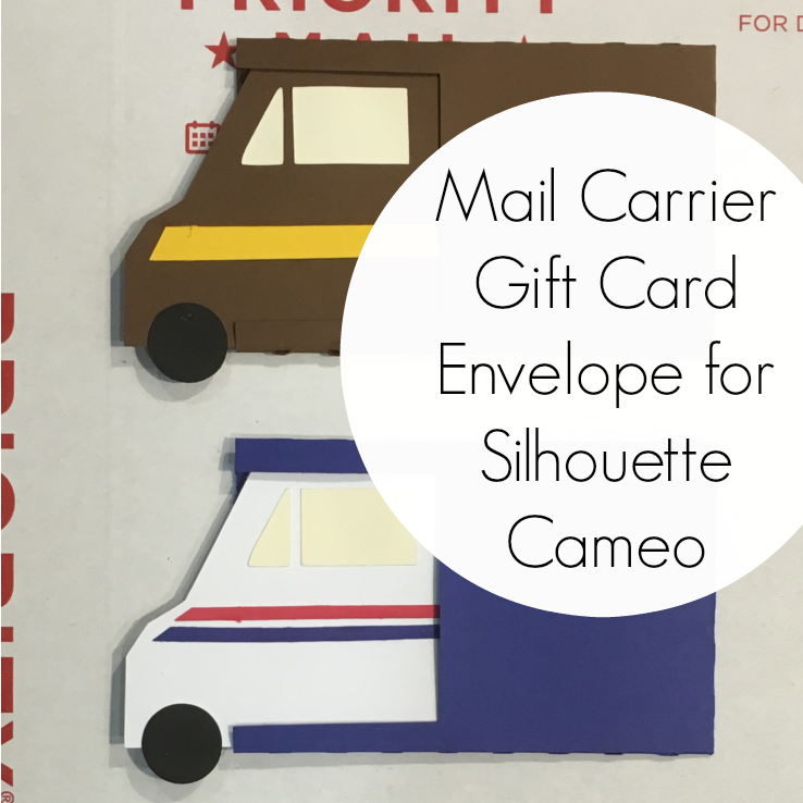 Photo of Free Mail Carrier Gift Card Envelope Cut File for Silhouette Cameo – Cutting for Business