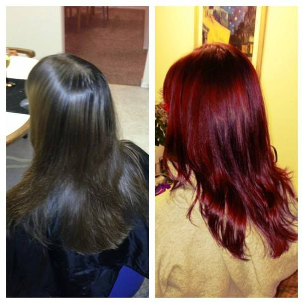 Semi Permanent Hair Color Red Hair Ruby Red Slippers My Work