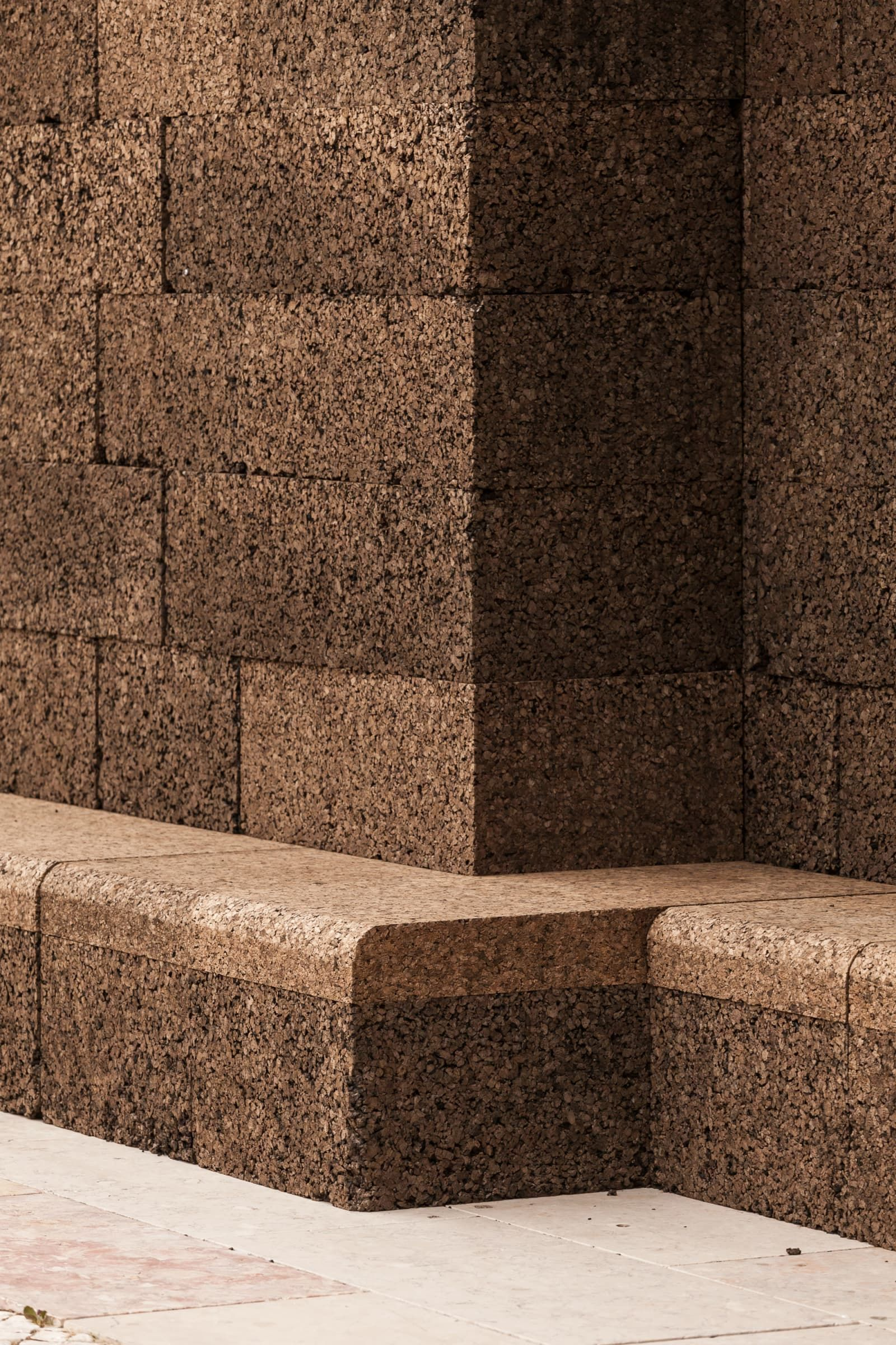 Jose Neves Francisco Nogueira A Square In Summer Cork Wall Urban Furniture Cork Panels