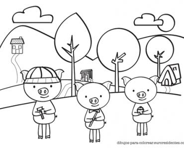 Dibujo 3 Cerditos Colorear Los 3 Cerditos Cerditos Cerdo Para Colorear