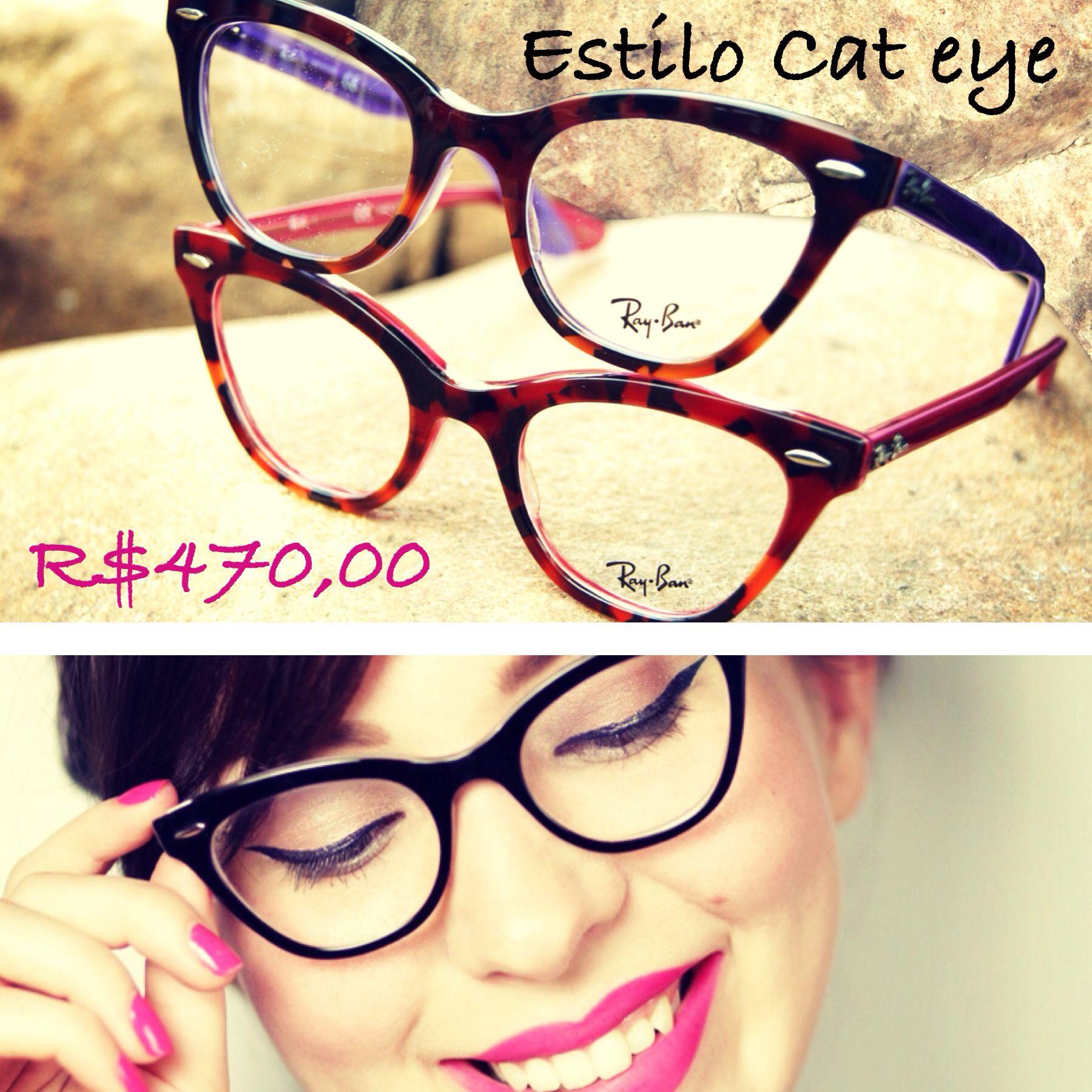 Armação no estilo cat eye deixam o look mais feminino.  oculos  grau   gatinho  oticas  wanny  color  rb  shop  online d6971aee1a