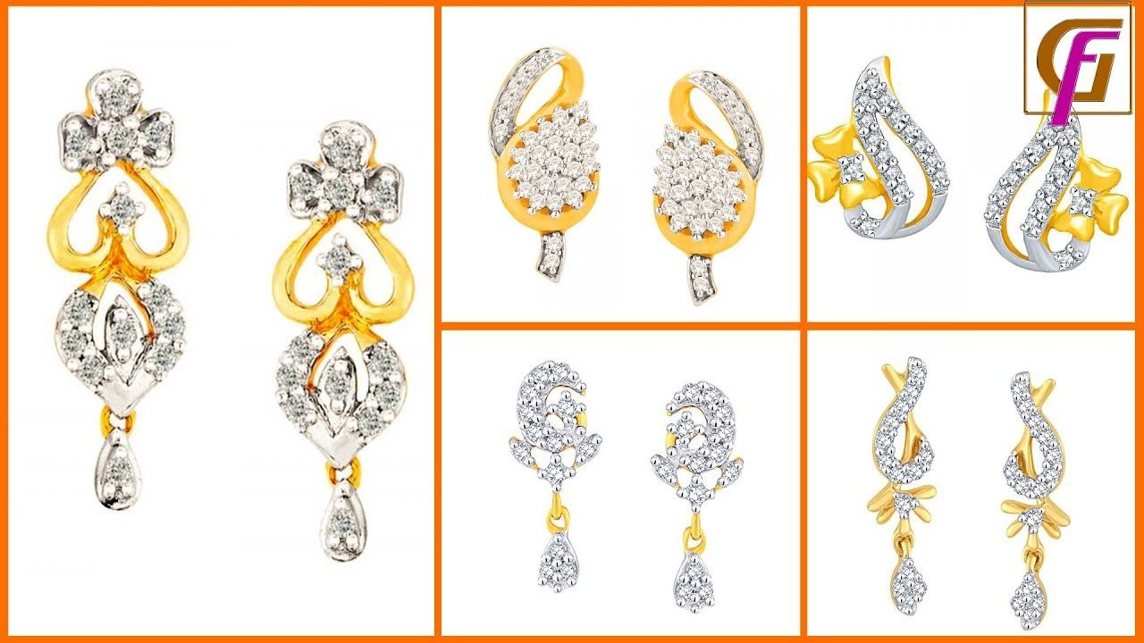 0db55fce8 Latest Diamond Earring Designs With Price 2018 ।। Gold Fashion World । Find  this Pin and ...