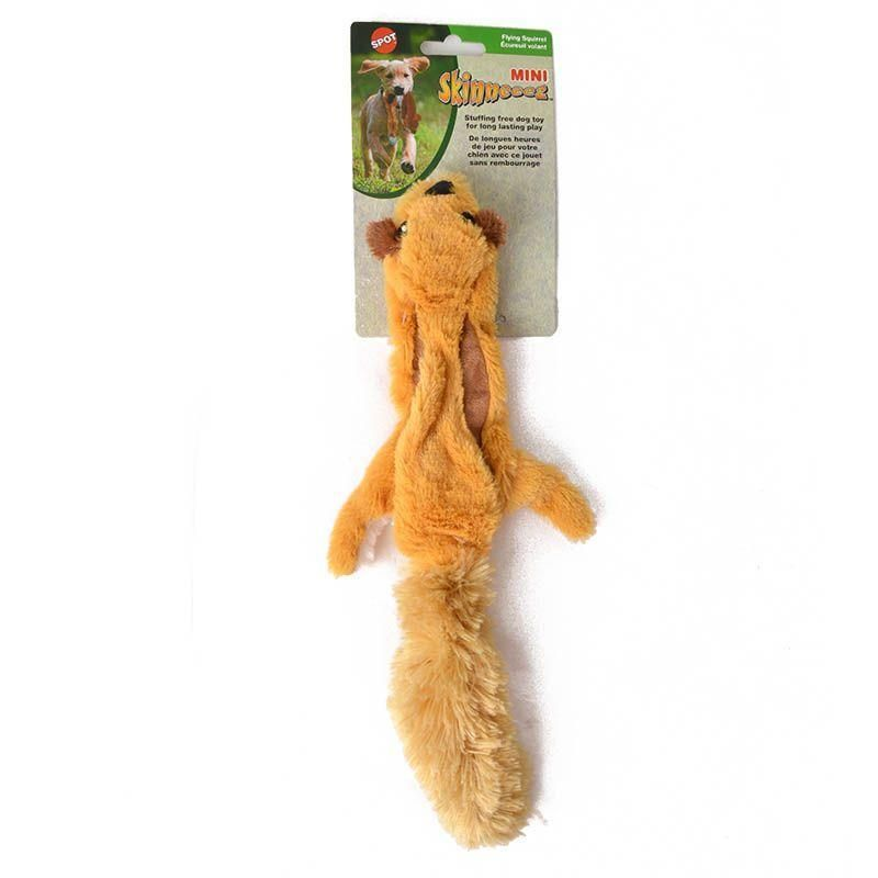 Skinneeez Flying Squirrel Plush Dog Toys Dog Chew Toys