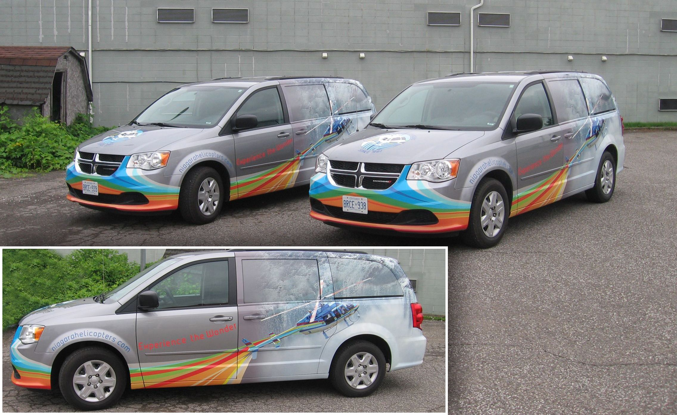 The completed van wrap for Niagara Helicopters 2013