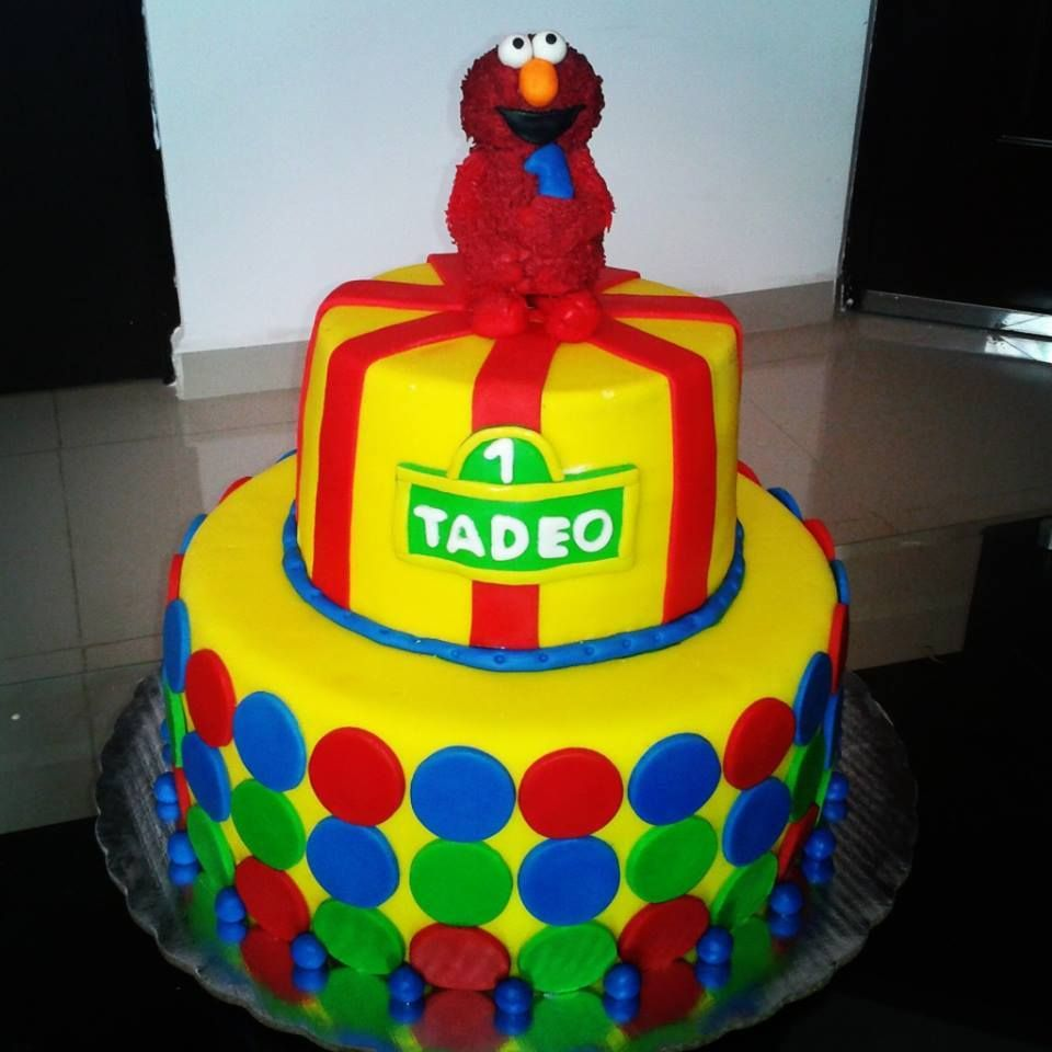 Pastel De Elmo Pasteles Pinterest Elmo Cake And Cake