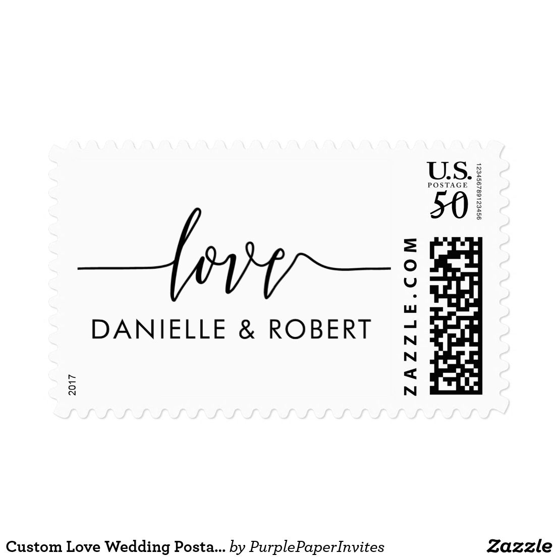 Custom Love Wedding Postage Stamps Wedding Postage Stamps Wedding