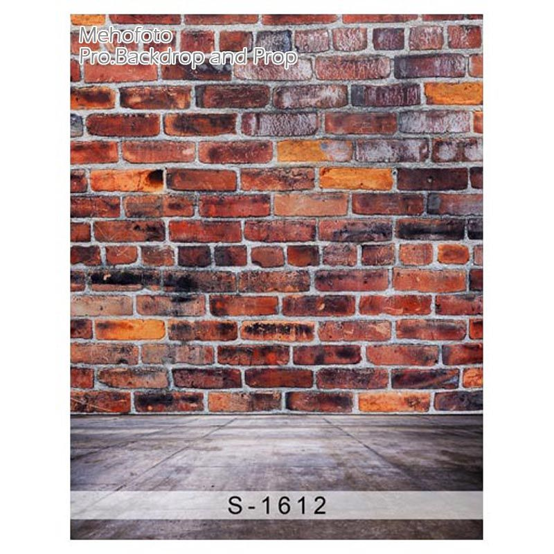 10x10 Red Brown Grey Brick Brick Wall Backdrop Brick Wall Studio Backdrops Backgrounds