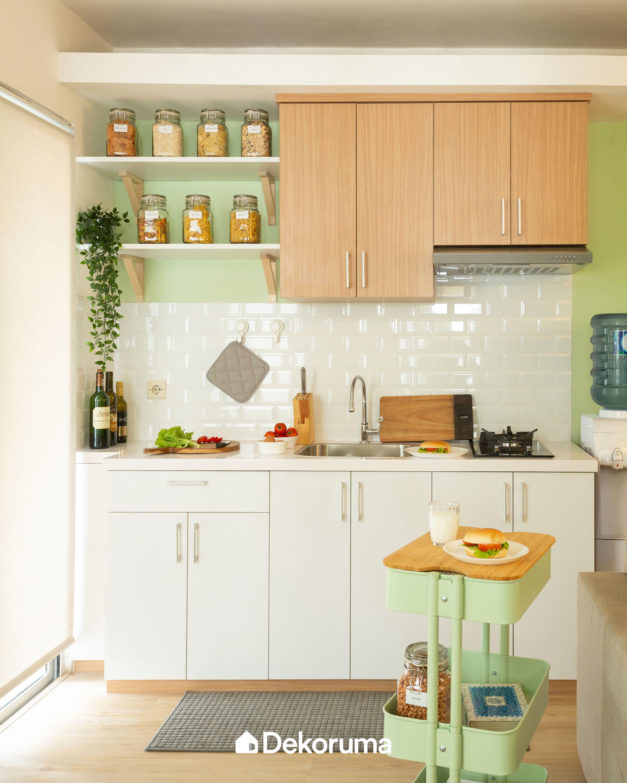 apartemen di kalibata city ini memiliki suasana ruang yang bersih manis dan stylish seperti on kitchen interior korean id=81592