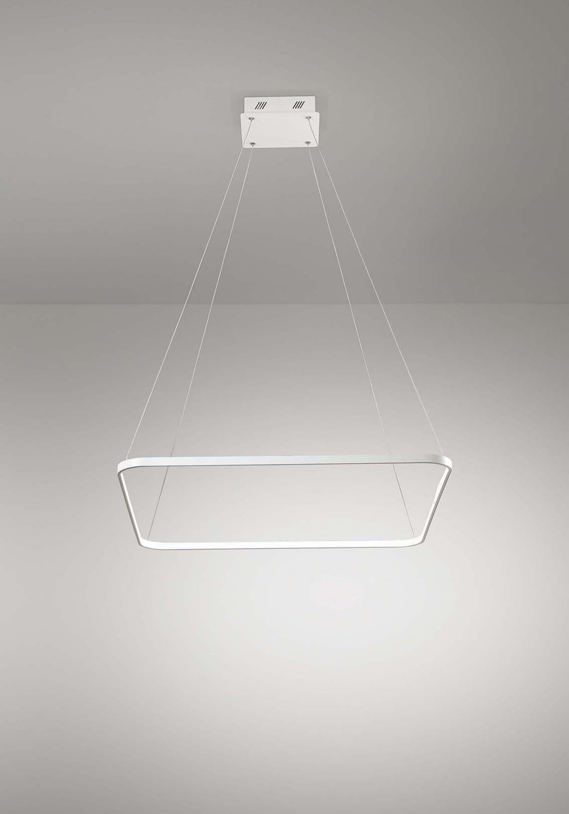 Lampadario a led moderno quadrato 33w design affra 2332