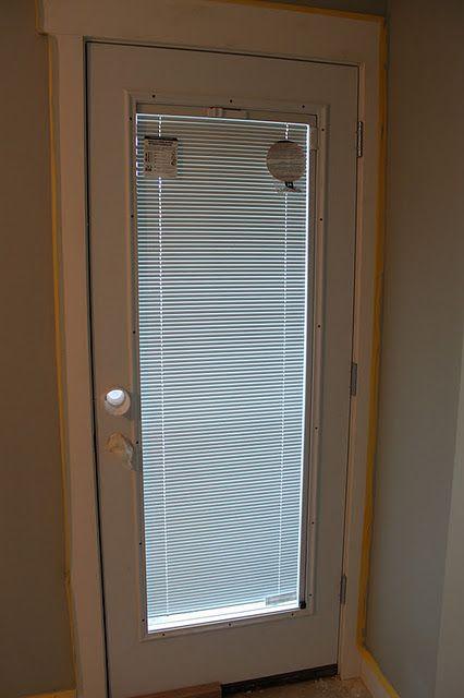 Door with built in blinds jeldwen special ordered for French door back door
