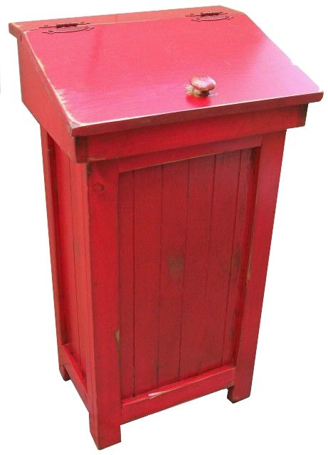 Distressed Wooden Trash Choose One White Distressed Shown Black Distressed Red Distressed Trash Bins Wooden Trash Can Wood Trash Can