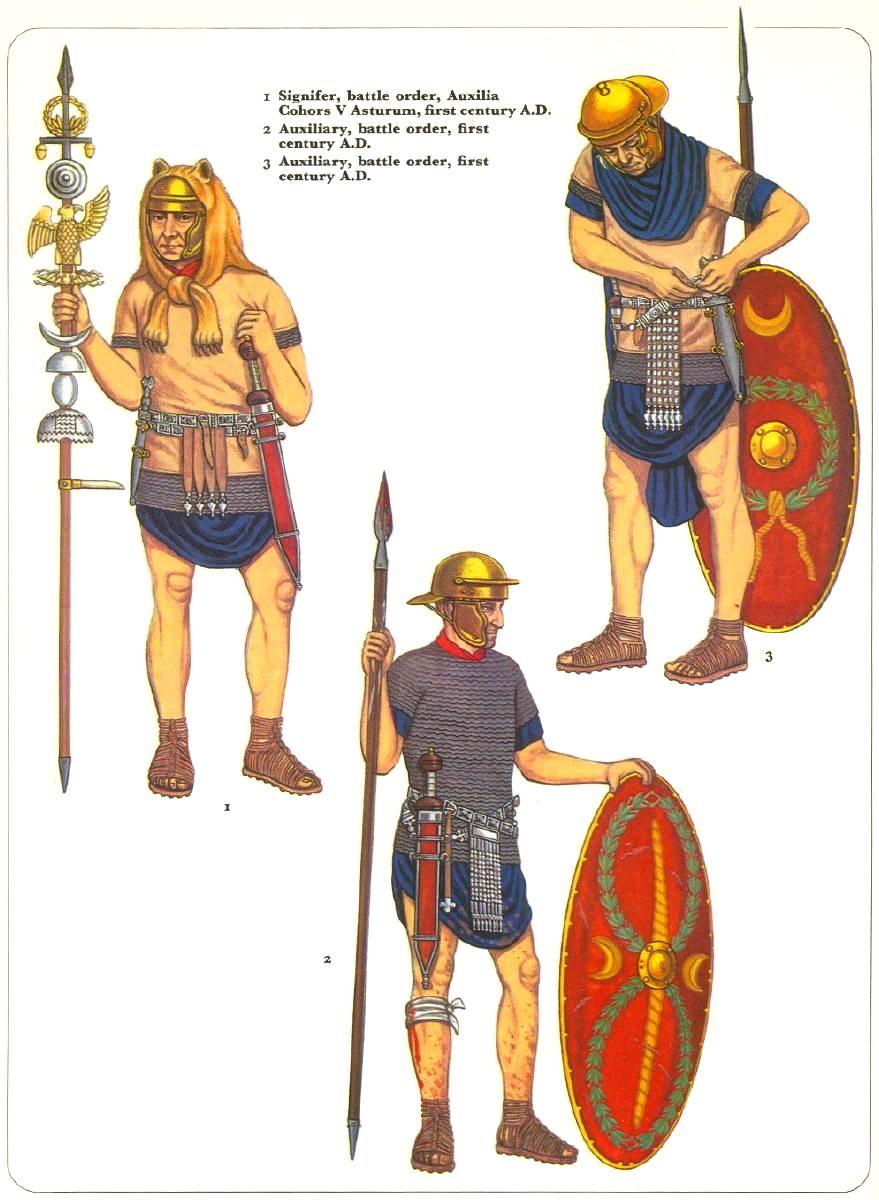 Signifer e ausiliari, I secolo d.C.