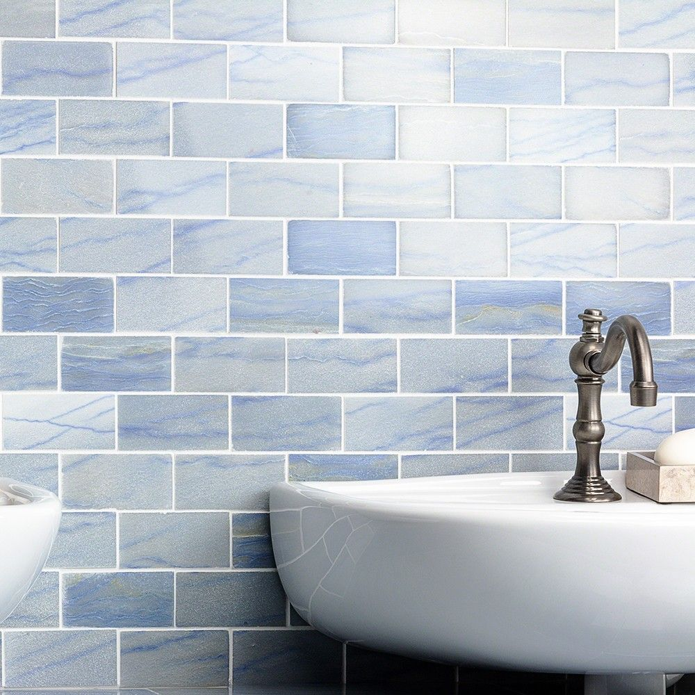 Blue Macauba 2x4 Polished Marble Tile | Marble tiles, Marbles and ...
