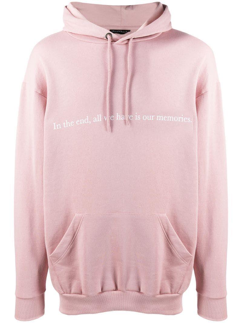 Throwback Memories Logo Hoodie Farfetch Hoodies Pink Hoodie Women Wear [ 1067 x 800 Pixel ]