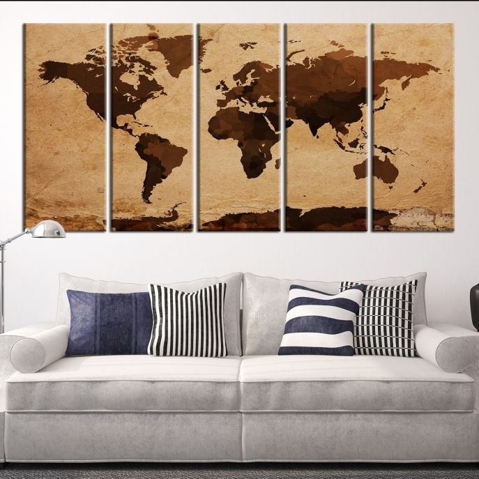 Large wall art sephia world map art canvas print mygreatcanvas large wall art sephia world map art canvas print mygreatcanvas extra large gumiabroncs Image collections
