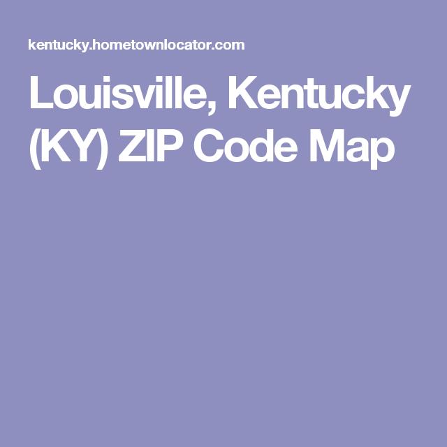 Louisville, Kentucky (KY) ZIP Code Map | Tips | Zip code map, Coding on