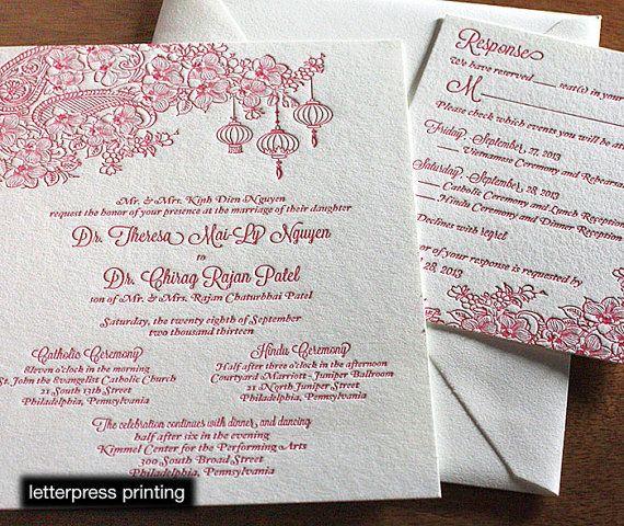 Mai Letterpress Or Digital Wedding Invitations Set Of 100 Indian Wedding Invitation Cards Wedding Invitation Card Design Wedding Invitation Templates