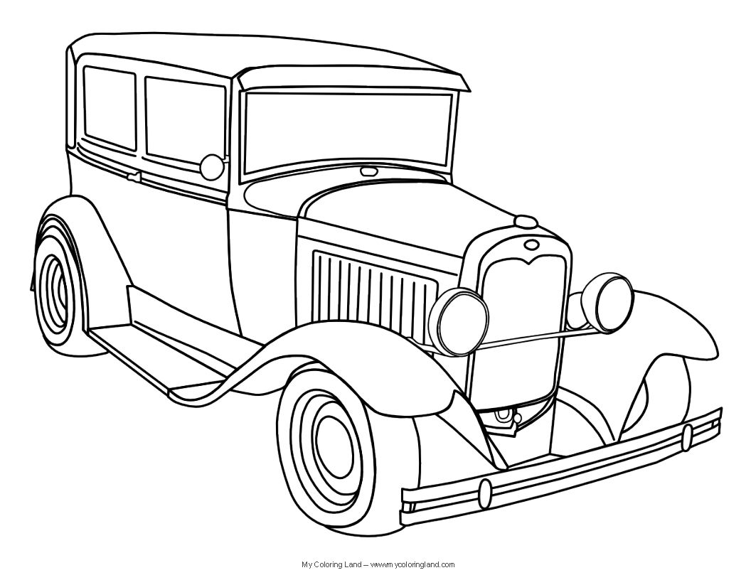 Antique Car Coloring Pages : Color sheets tp print coloring cars and these printable