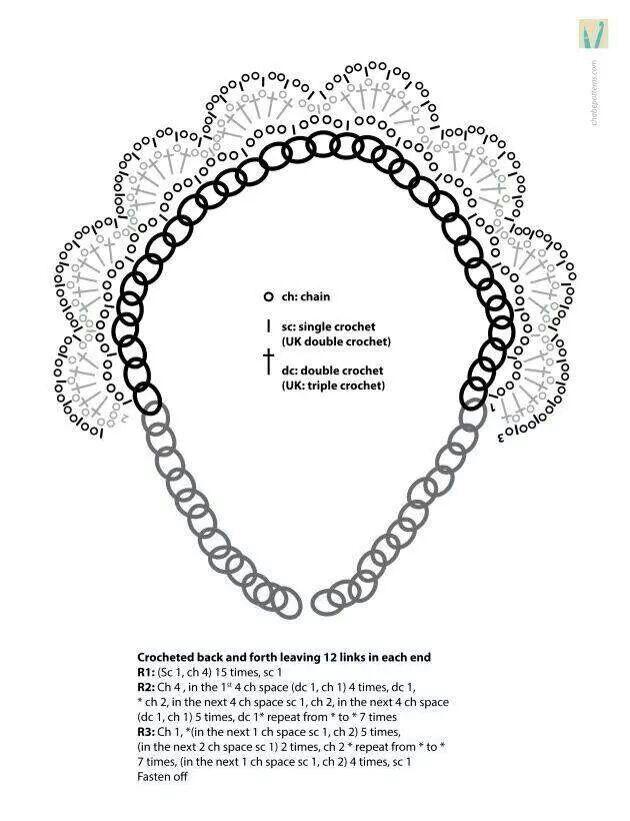 Collar con cadena. | jewelry crochet | Pinterest | Crochet
