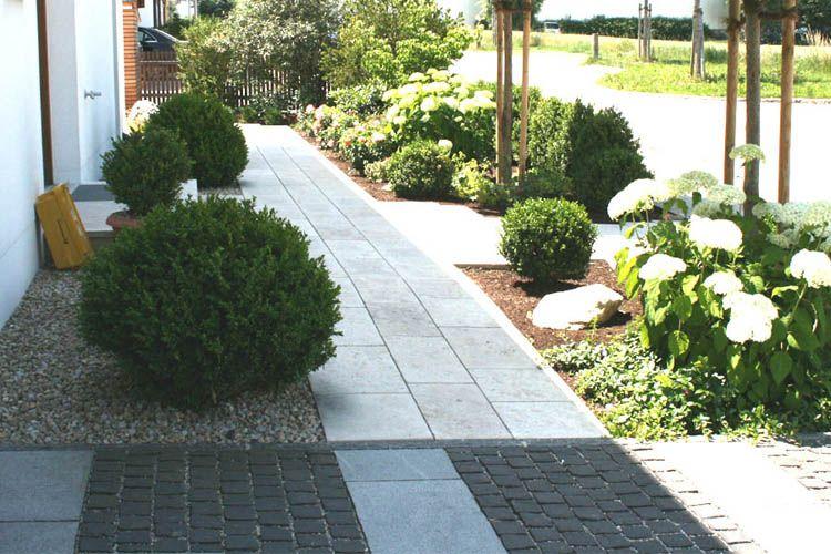 Idee f r bepflanzung eingang hauseingang pinterest for Garten boden idee