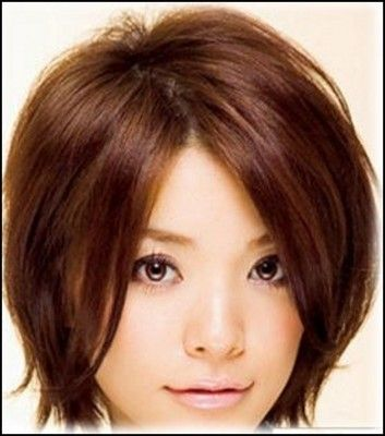 Short Hairstyles Round Faces Hair Pinterest Short Hair Styles