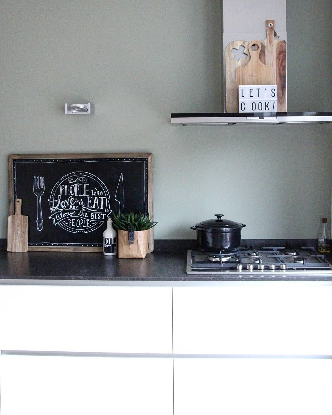 Best Lunchtime Interiorjunkie Kleur Achterwand Lichen Van 400 x 300