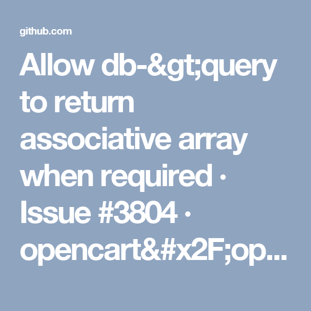 Allow db->query to return associative array when required
