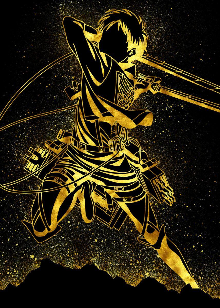 'Golden Eren' Poster Print by Eternal Art | Displate