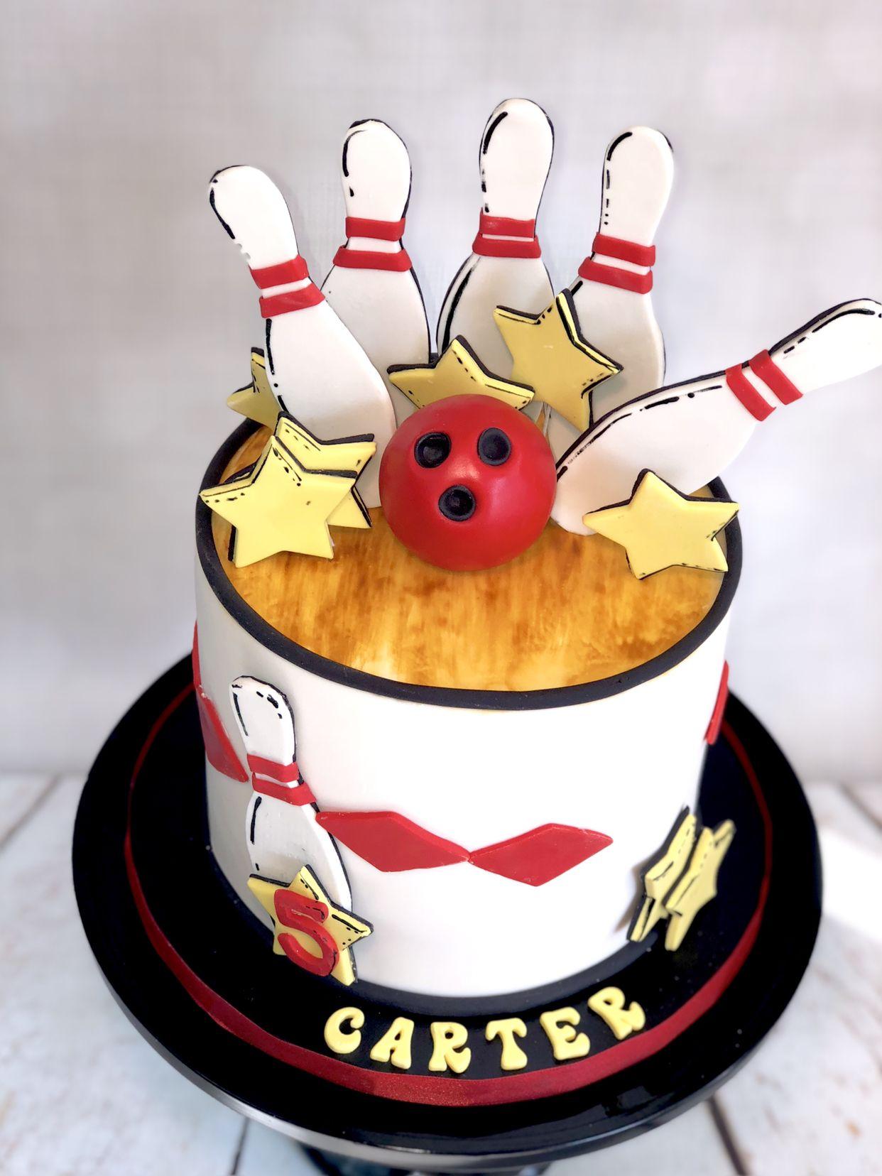Bowling Cake Bowling Cake Bowling Birthday Cakes Themed Birthday Cakes