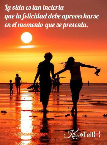 Felicidad Pareja Playa Vida Amor Frase Quotes Pinterest
