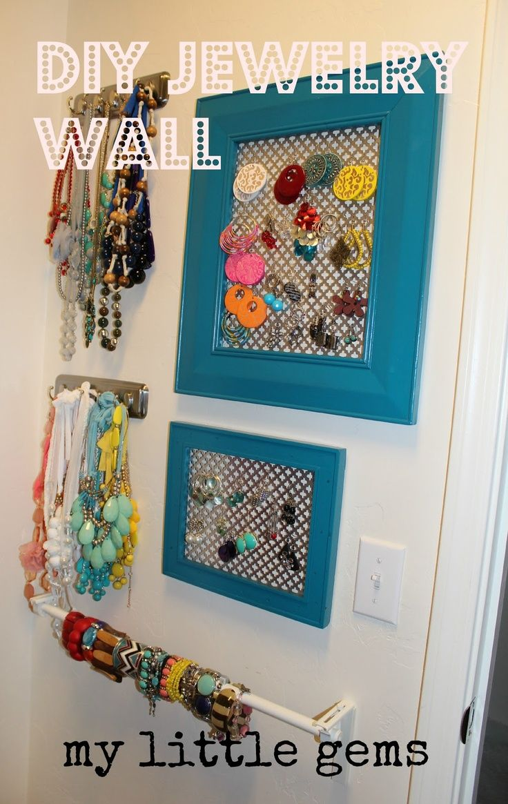 DIY Jewelry Holder Frame and any type of metal backing screen or