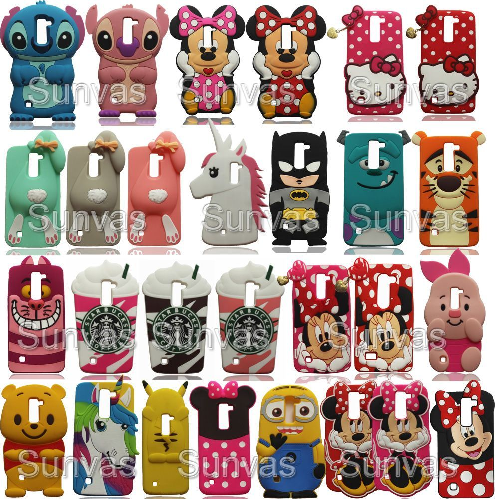 hot sale online 8c7ee db62f K7 Q7 silicone case 3D Cartoon Soft Silicone Phone Case Back Cover ...