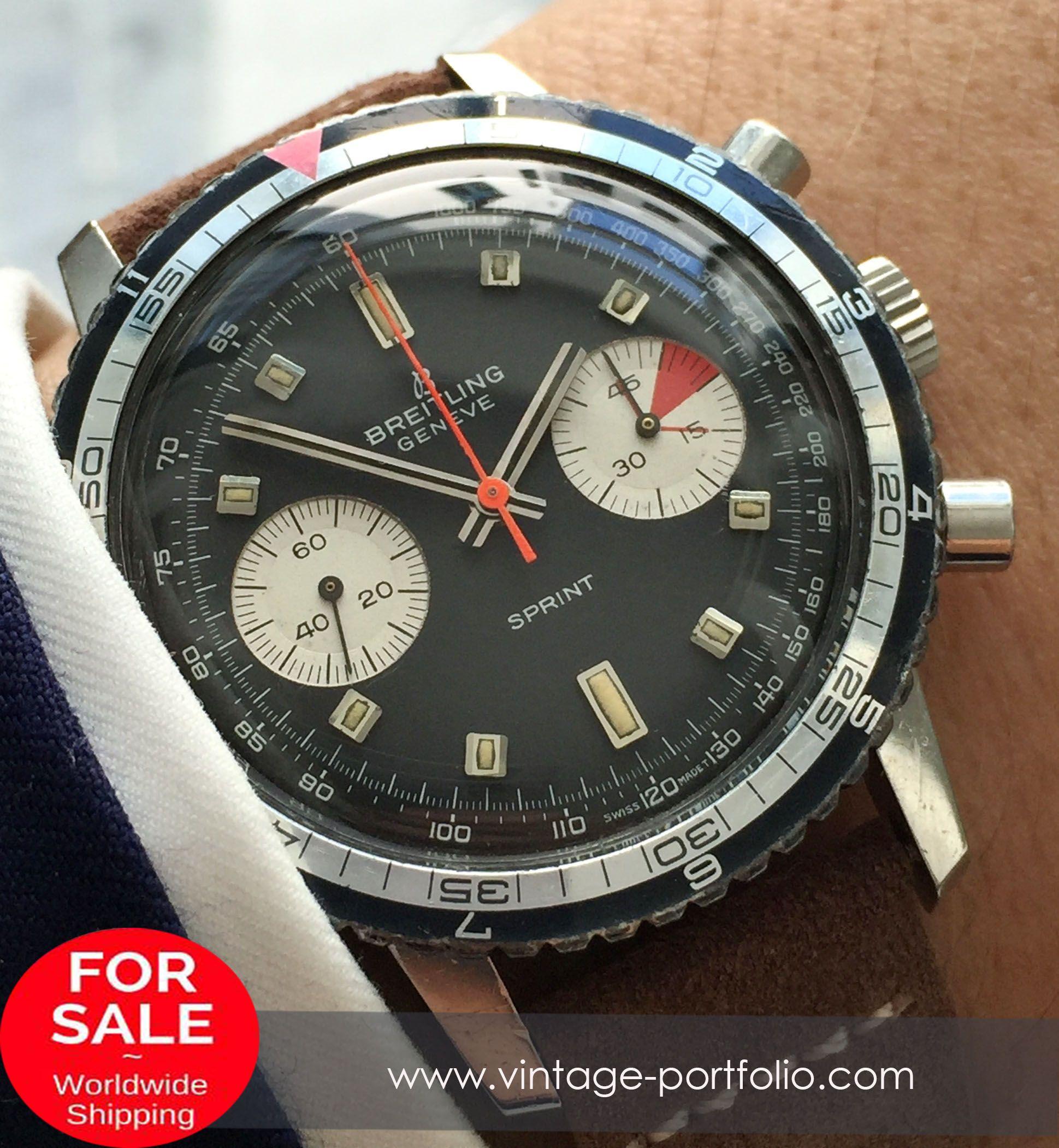 Breitling Sprint Reverse Panda Dial Vintage Vintage Portfolio Breitling Best Watches For Men Watches For Men
