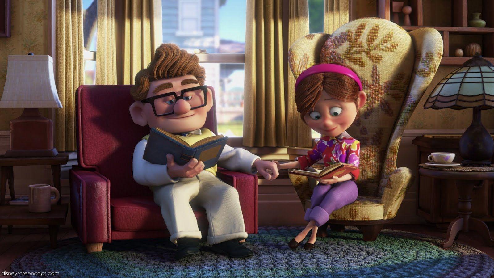 3. Ellie de Up está representada en el film a través de los colores brillantes, especialmente el magenta.