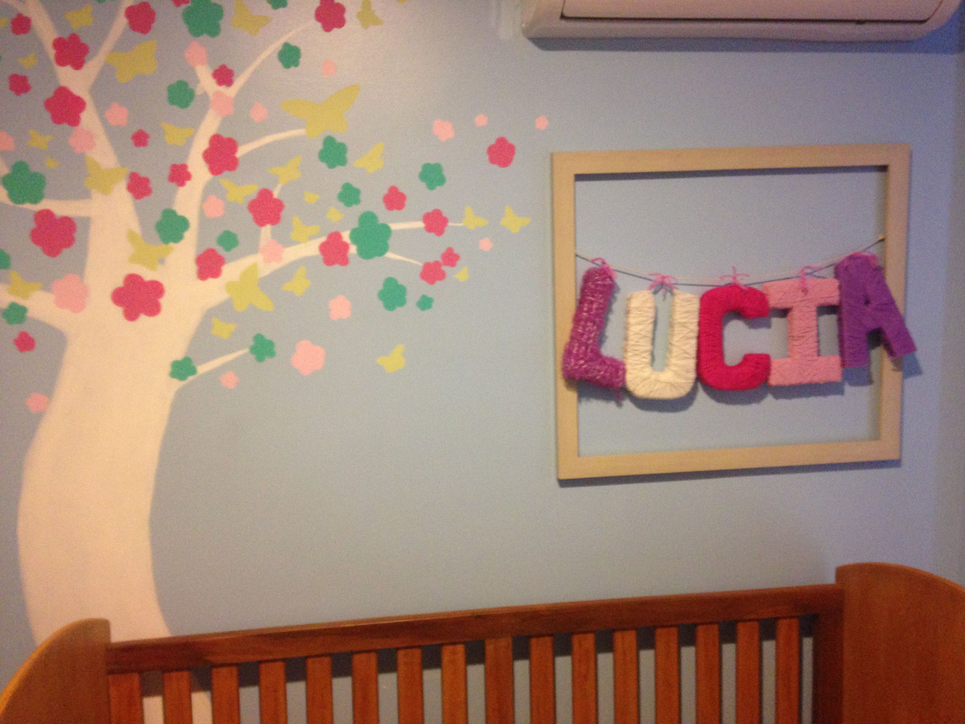 Diy Baby Room Decor Acrylic Painted Tree (Yo Can Use