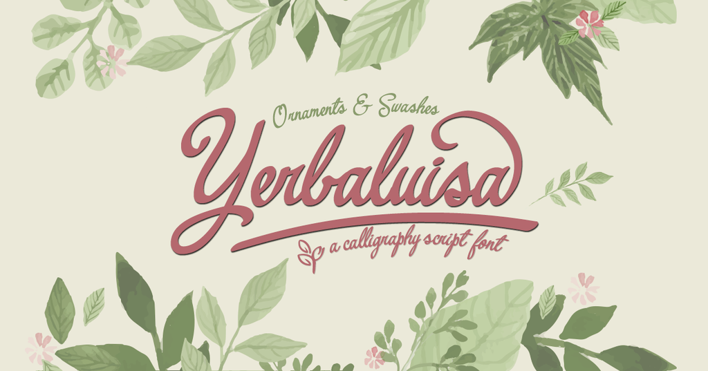 New Free Font Yerbaluisa By Fernando Haro Free For Personal Use Freefont Font Freefont Script Fonts Font Bundles Fonts