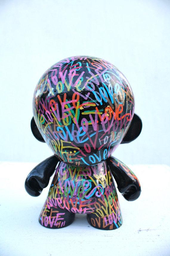 Kidrobot Kid Robot Mega Munny Sculpture Painting Vinyl Toy