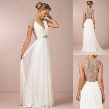 Robe longue blanche style grec | Robe de