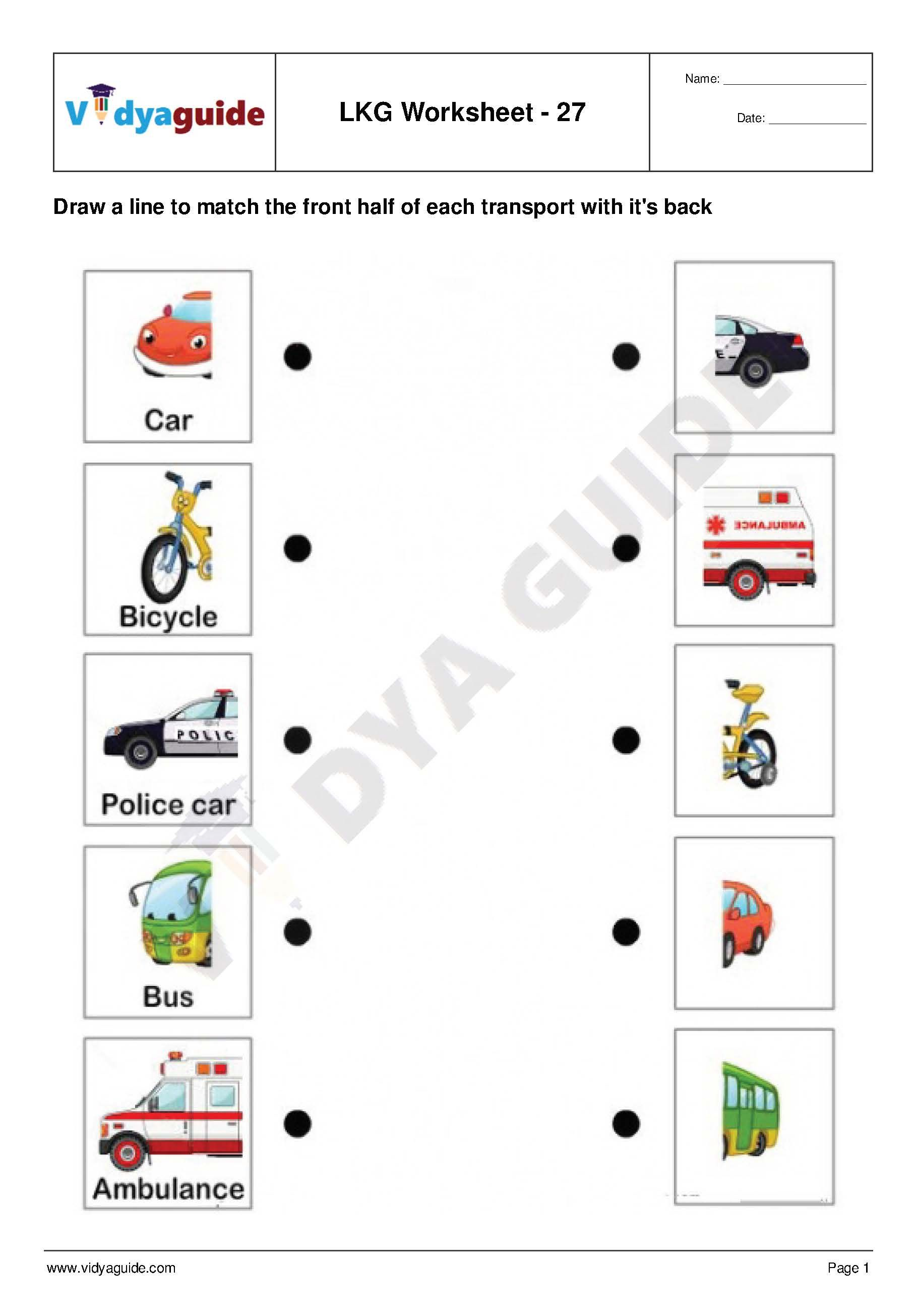 Download LKG Worksheets Set 06 Lkg worksheets